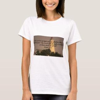 T-shirt Vers inspiré de bible sur la photo de phare