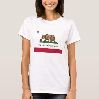 T-shirt Version de chou frisé de drapeau de la Californie