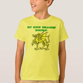 T-shirt Vert au néon MES PROPRES ROCHES de DRAGON ! Le