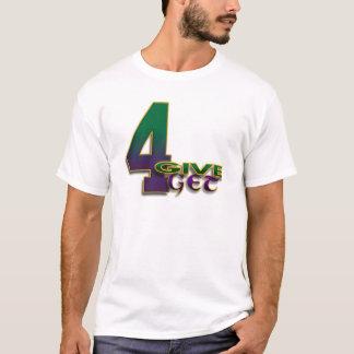 T-shirt vert blanc de 4-Give 4-Get 4 Favre