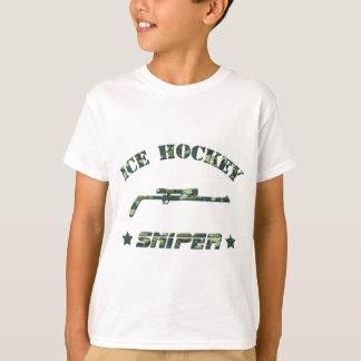 T-shirt Vert Camo de tireur isolé de hockey sur glace