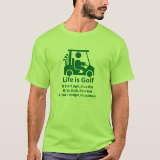 T-shirt vert clair de golf de chariot de vert