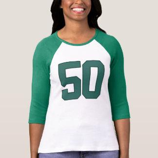 T-shirt vert d'anniversaire de la FAC #50