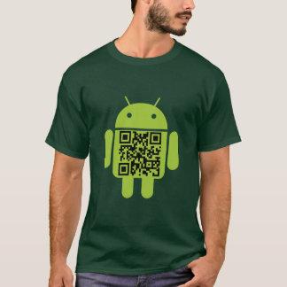 T-shirt vert de code de l'androïde QR