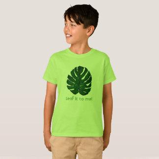 T-shirt vert de feuille de Monstera