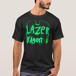 T-shirt Vert de logo de dragon de Lazer