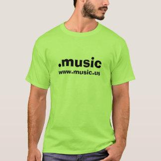 T-shirt vert de .music avec WWW