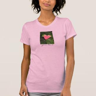 T-shirt vert d'Eco de coeur