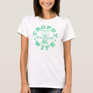 T-shirt Vert d'épouse de trophée depuis 2012