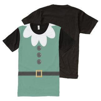 T-shirt vert drôle de costume d'Elf de Noël