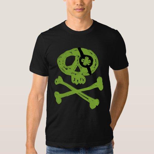 T-shirt vert drôle de pirate