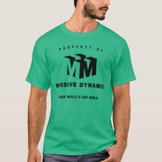 T-shirt vert dynamique massif