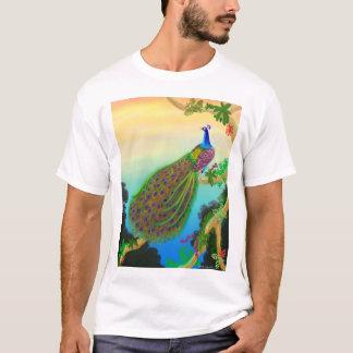T-shirt vert exotique de paon