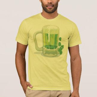 T-shirt vert irlandais de bière