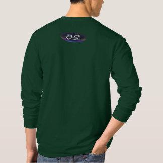 T-shirt Vert urbain LongSleeve de jungle de BOVZ