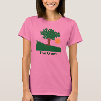T-shirt Vert vivant