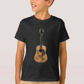 T-shirt Verticale de guitare acoustique affligée