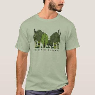 T-shirt Verts de collard de noyau dur