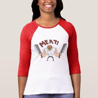 T-shirt VIANDE ! La chemise des femmes de Bunglist de rage