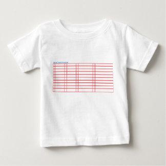 T-shirt vide de liste de contrôle de voyage de