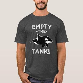 T-shirt Videz les réservoirs - libérez la chemise drôle de