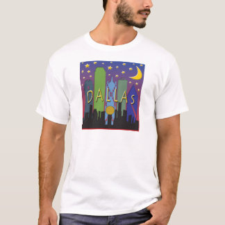 T-shirt Vie nocturne d'horizon de Dallas