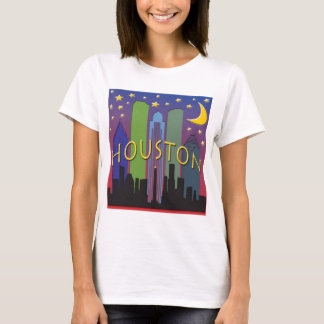 T-shirt Vie nocturne d'horizon de Houston