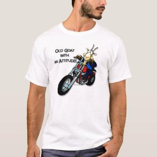 T-shirt Vieille chèvre avec une attitude