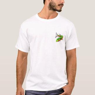 T-shirt Vieille conception blanche de w/Front voulue par