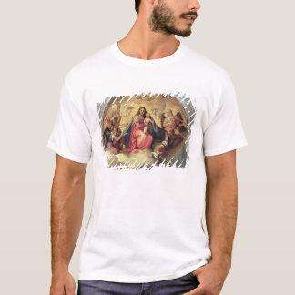 T-shirt Vierge et enfant avec des musiciens d'ange