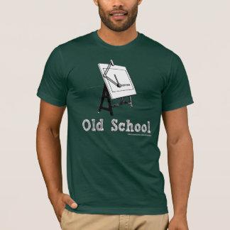 T-shirt Vieux-École-Rédiger-Panneau-blanc