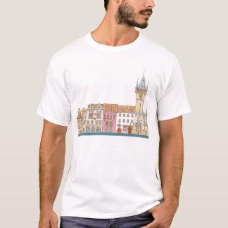 T-shirt Vieux hôtel de ville. Prague Tchèque