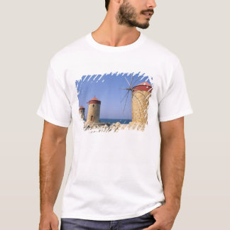 T-shirt Vieux moulins à vent célèbres de Rhodes Grèce
