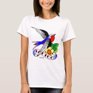 T-shirt Vieux tatouage d'hirondelle de Skool