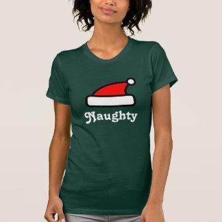 T-shirt vilain de casquette du père noël pour des