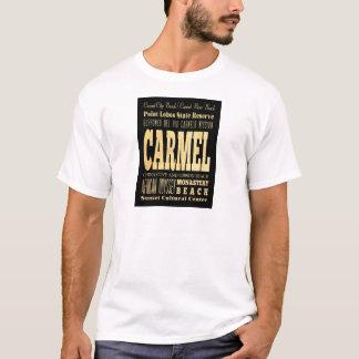 T-shirt Ville de Carmel d'art de typographie de la