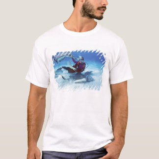 T-shirt Ville de pastenague, Grand Cayman, Îles Caïman,