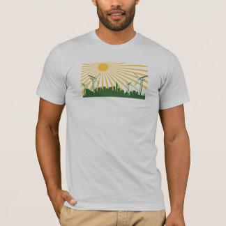 T-shirt Ville de turbine de vent