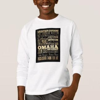 T-shirt Ville d'Omaha d'art de typographie d'état du