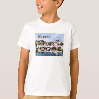 T-shirt Ville du Vatican vue du texte ROME de rivière du