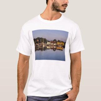 T-shirt Ville et port, Kinvarra, comté Galway,