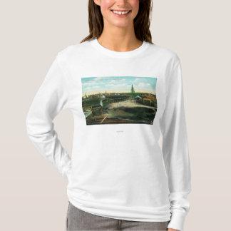T-shirt Ville indienne sur le Yukon RiverAnvik, AK