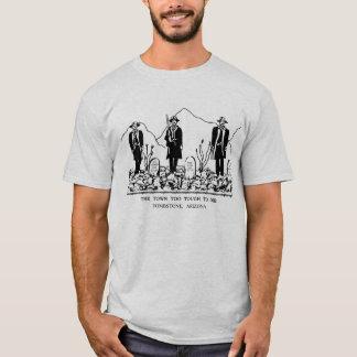 T-shirt ville trop dure pour mourir - pierre tombale,