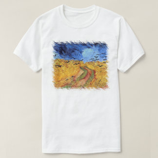 T-shirt Vincent van Gogh - champ de blé avec les