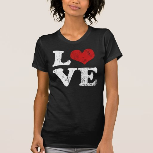 T-shirt vintage d'amour