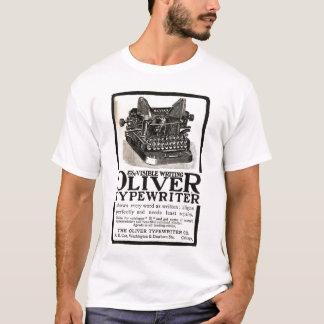 T-shirt vintage d'annonce de machine à écrire