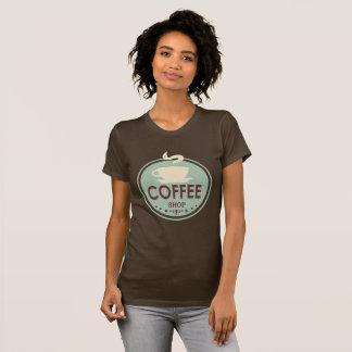 T-shirt vintage d'art de mot de café-restaurant