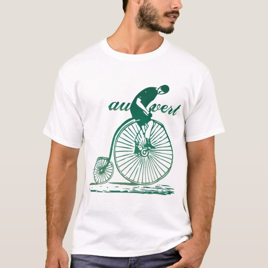 T-shirt vintage de bicyclette de Vert d'Au