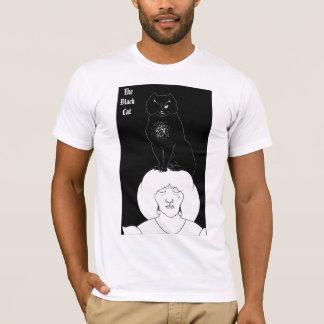 T-shirt vintage de chat noir par Aubrey Beardsley