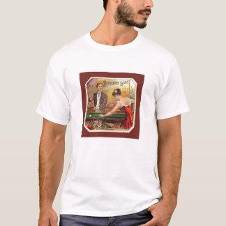 T-shirt vintage de joueurs de billard d'étiquette